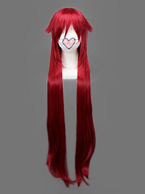 Cosplay Paruky Black Butler Grell Sutcliff Czerwony Dlouhé Anime Cosplay Paruky 90 CM Horkuvzdorné vlákno Pánský