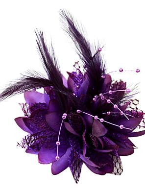 Mulheres / Menina das Flores Penas / Algodão Capacete-Casamento / Ocasião Especial Fascinador / Flores