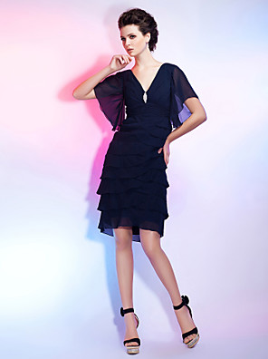 TS Couture® Cocktail Party / Homecoming Dress - Little Black DressApple / Hourglass / Inverted Triangle / Pear / Rectangle / Plus Size / Petite