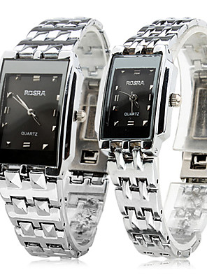 Heren / Dames / Voor Stel Dress horloge Kwarts Band Zilver Merk-