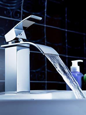 Sprinkle® fürdőszobai csapok  ,  Kortárs  with  Króm Kilincs Egy furat  ,  Funkció  for Vízesés / Központi elhelyezésű
