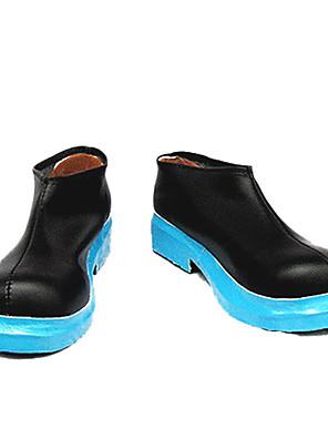 Sapatos de Cosplay Vocaloid Hatsune Miku Anime Sapatos de Cosplay Preto / Azul Pele PU Feminino