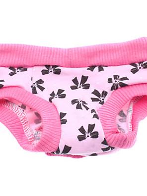 Cães Calças Rosa Roupas para Cães Primavera/Outono Laço