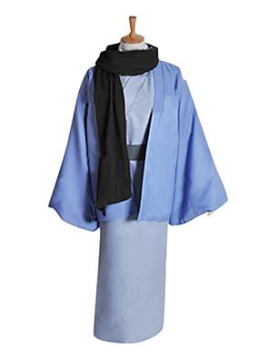 Inspirovaný Kamisama Kiss Tomoe Anime Cosplay kostýmy Cosplay šaty / Kimono Patchwork Niebieski Dlouhé rukávyKabát / Kimono / šála či