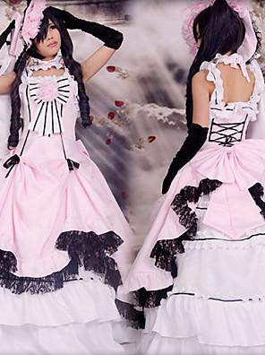 קיבל השראה מ Black Butler Ciel Phantomhive אנימה תחפושות קוספליי חליפות קוספליי טלאים ורוד בלי שרוולים שמלה / כובע / כפפה