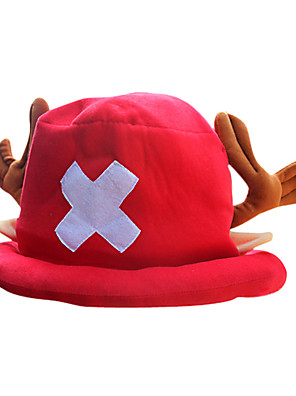 Čepice / klobouk Inspirovaný One Piece Tony Tony Chopper Anime Cosplay Doplňky Nabírané / Klobouk Czerwony polar fleece Pánský