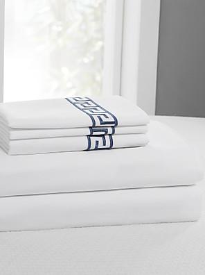 """eenvoudig&opulence® sheet set, 400 tc 100% katoen stevige borduren tot 15 """"deep"""