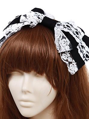 תכשיטים לוליטה קלאסית ומסורתית לבוש ראש נסיכות לבן / Black לוליטה אביזרים אביזר לשיער סרט פרפר / אחיד ל גברים / נשים כותנה