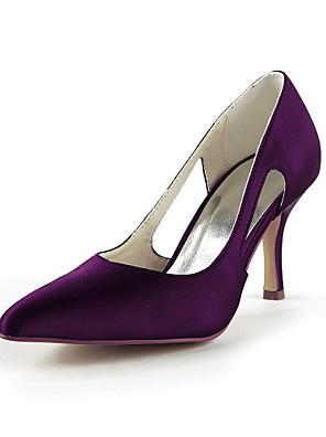Női - Magassarkú - Esküvői cipők - Magassarkú - Esküvői -Fekete / Kék / Rózsaszín / Lila / Piros / Elefántcsont / Fehér / Ezüst / Arany /