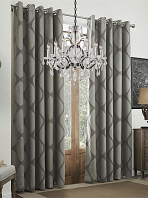To paneler Vindue Behandling Rokoko Spisestue Polyester Materiale Gardiner forhæng Hjem Dekoration For Vindue