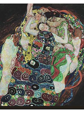 Az Embrace Gustav Klimt híres kifeszített vászon Nyomtatás