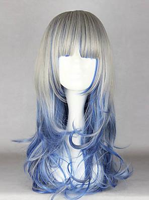 פאות לוליטה לוליטה גותי צבע הדרגתי ארוך כחול / אפור פאות לוליטה 60 CM פאות קוספליי טלאים פאה ל נשים