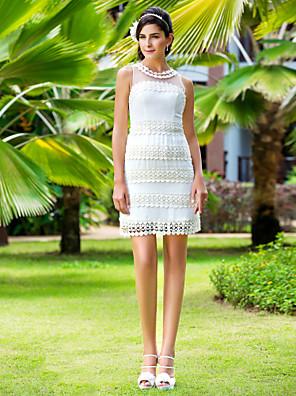 lanting 신부 시스 / 아담 열 / 플러스는 웨딩 드레스 짧은 크기 / 미니 보석 쉬폰 / 얇은 명주 그물