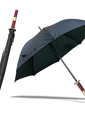 חרב Roronoa זורה שלוש חרב סגנון Sandai Kitetsu סמוראי מטריה (שחור)