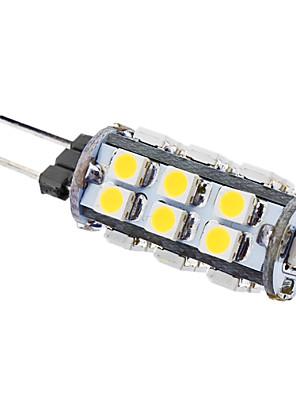 1W G4 Lâmpadas Espiga T 26 SMD 3528 50 lm Branco Quente AC 12 V