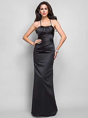 TS Couture® Formal Evening / Military Ball Dress - Open Back Plus Size / Petite Trumpet / Mermaid Spaghetti Straps Floor-length Satin with Lace / Side