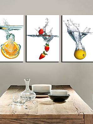 Reproducción en lienzo de arte Muerta frutas en agua Set de 3