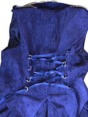 Jednodílné/Šaty Gothic Lolita Lolita Cosplay Lolita šaty Zlatá / Stříbrná / Inkoustová modř Jednobarevné Bez rukávů Medium Length Šaty Pro