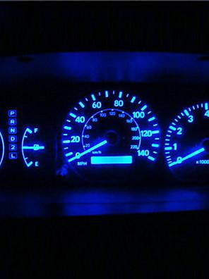 8x T10 194 168 501 4-SMD 3528 LED Bil pære Blå