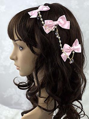 תכשיטים לוליטה מתוקה לבוש ראש נסיכות ורוד לוליטה אביזרים אביזר לשיער סרט פרפר / אחיד ל נשים סאטן