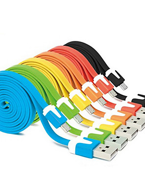 USB 2.0 / Micro USB 2.0 Flad Kabel Til Samsung / HTC 100cm cm PVC