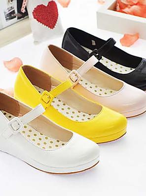 Candy Girl en cuir PU 3cm Wedge douces Chaussures Lolita