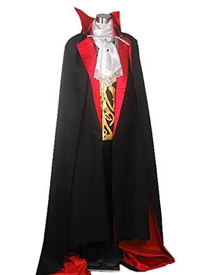 Cosplay Kostýmy / Kostým na Večírek Upír Festival/Svátek Halloweenské kostýmy Černá JednobarevnéKabát / Vesta / Tričko / Kalhoty / Přehoz
