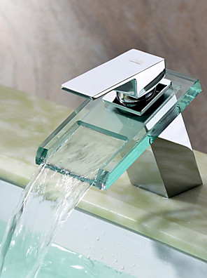 Sprinkle® Badeværelseshaner  ,  Moderne  with  Krom Enkelt Håndtag Et Hul  ,  Feature  for Vandfald / Center-sæt