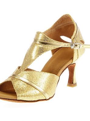 여성의 반짝 반짝 상부 인공 재료 라틴어 / 볼룸 댄스 성능 신발 (더 많은 색상)