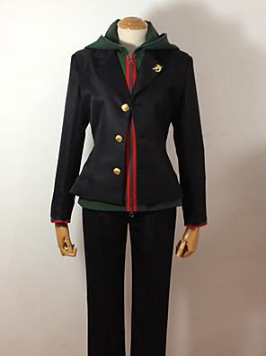 קיבל השראה מ Dangan Ronpa Makoto Naegi וִידֵאוֹ מִשְׂחָק תחפושות קוספליי חליפות קוספליי / תלבושות לבית הספר אחיד שחור שרוולים ארוכיםמעיל