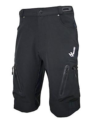 Arsuxeo® Bermudas Acolchoadas Para Ciclismo Homens Moto Respirável / Secagem Rápida / Zíper á Prova-de-ÁguaShorts largos / Shorts /