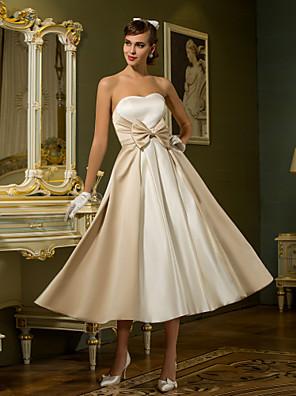 Lanting Bride® Linha A / Princesa Pequeno / Tamanhos Grandes Vestido de Noiva - Chique e Moderno / RecepçãoVestidos Noiva de Cor /