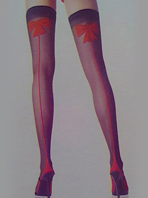 Sokken en kousen Festival/Feestdagen Halloween Kostuums Rood / Zwart Kousen Halloween / Carnaval Vrouwelijk Spandex / Nylon