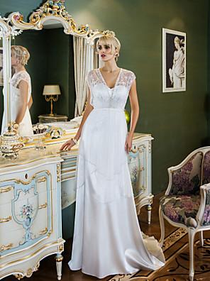 Lanting Bride® Pouzdrové Drobná / Nadměrné velikosti Svatební šaty - Klasické & nadčasové / Okouzlující & dramatické Retro Dlouhá vlečka