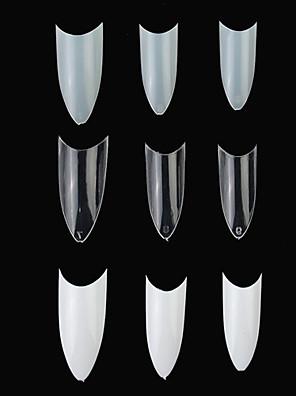 100st C-vormige Professionele Franse False Acryl Nail Art Tips (verschillende kleuren)