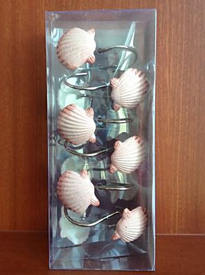 Badeforhæng Kroge, Pink Shell Shape Zinc Alloy (12 pack)
