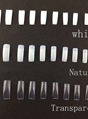 500 Professional Korean Standards Half Well False Acrylic Nail Art Tips(Assorted Colors,50PCSx10 Sizes Mixed)