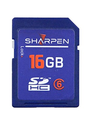 Zaostřit High Speed Flash Memory SD SDHC Card Class 6 16 gb-Blue