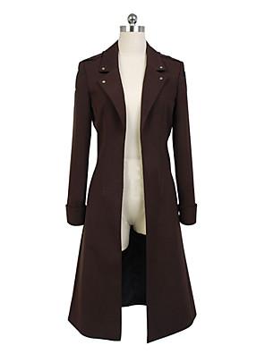 קיבל השראה מ Attack on Titan Levy אנימה תחפושות קוספליי חליפות קוספליי אחיד שחור שרוולים ארוכים מעיל