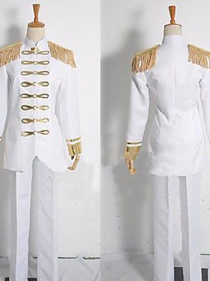 קיבל השראה מ Attack on Titan Levy אנימה תחפושות קוספליי חליפות קוספליי טלאים לבן מעיל / מכנסיים