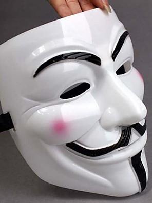 Verdikken Wit masker V For Vendetta Full Face Scary Cosplay Gadgets voor Halloween Costume Party