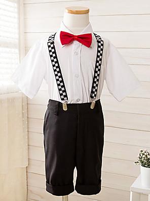פוליאסטר חליפה לנושא הטבעת - 4 חתיכות כולל חולצה / מכנסיים / עניבת פרפר / בריות