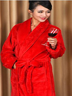 Badekåbe, High-class Woman Rose Dekorative Collar Garment Thicken