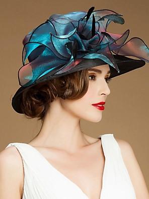 נשים / נערת פרחים פשתן / אורגנזה / משי כיסוי ראש-אירוע מיוחד / קז'ואל / חוץ כובעים