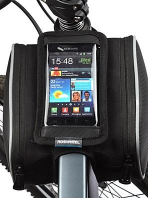 Bolsa de Bicicleta 1.8LBolsa para Quadro de Bicicleta / Bolsa Celular Prova-de-Pó / Touch Screen Bolsa de BicicletaPele PU / Poliéster /