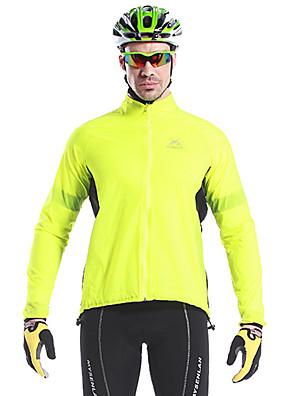 MYSENLAN® ג'קט לרכיבה לגברים שרוול ארוך אופניים עמיד למים / ייבוש מהיר / עמיד / לביש / מכפלת עם מחזיר אור ג'קט / צמרות פוליאסטר טלאיםאביב