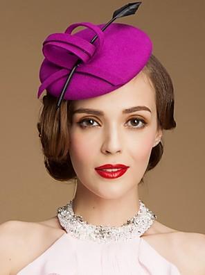 גבירותיי חתונת צמר אופנתי / אירוע מיוחד Fadora כובע עם bowknot
