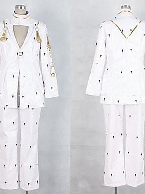 קיבל השראה מ הרפתקאות ביזאריות של ז'וז'ו Kotori Minami אנימה תחפושות Cosplay חליפות קוספליי סרוג לבן שרוולים ארוכים מעיל / מכנסיים