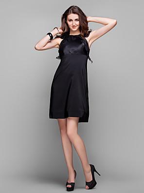 TS Couture® Cocktail Party / Prom / Holiday Dress - Little Black Dress / Elegant Plus Size / Petite Sheath / Column Jewel Knee-lengthOrganza /