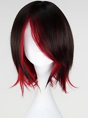 פאות קוספליי RWBY Rubiini שחור / אדום קצרה אנימה פאות קוספליי 35 CM סיבים עמידים לחום נקבה